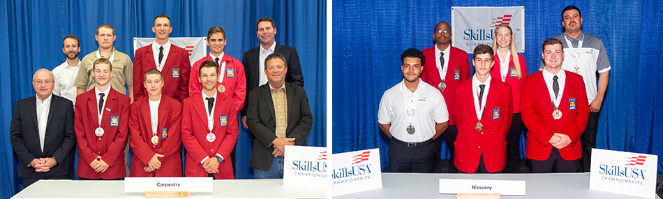 NCCER Congratulates the 2019 SkillsUSA National Carpentry and Masonry Competition Winners